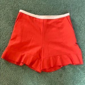 SEE BY CHLOE Orange Ruffles Summer Shorts